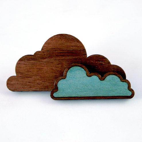 Double Cloud Pin