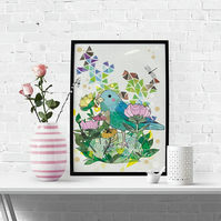 Little Bird Fine Art Print - Birds- Gift Idea - Wildlife and Nature - Illustrate