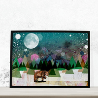 Alone Fine Art Print - Bear Artwork - Print for Children - Print for All