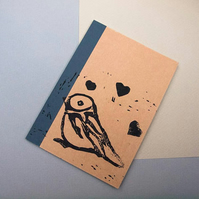 Mini Bird Notebook - Kraft Notebook - lined paper - Gift for All - Paper Goods