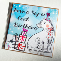 Have a Super Cool Birthday Card - Polar Bear - Illustrated - Blank - Stationery