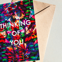 Thinking of You Card - Blank Card - Sympathies - Illustrated Greeting Card