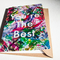 You're the Best Greeting Card - Blank Card - Stationery - Modern - Flowers
