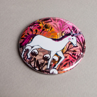 The Pink Unicorn Pocket Mirror - Gift Idea - Present - Birthday