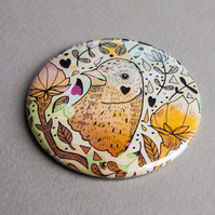 Magical Bird Pocket Mirror - Gift Idea - Present - Birthday - Magical