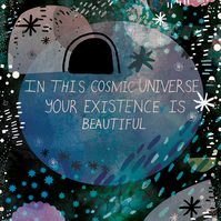 Cosmic Universe A4 Illustrated Fine Art Print