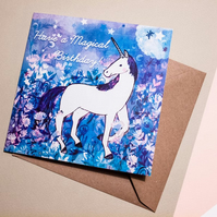 Have a Magical Birthday Greeting Card - Birthday Card - Card for All - Illustrat