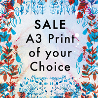 SALE A3 Fine Art Print (Creased Edge) - Artwork - Illustrated Print