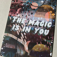 The Magic is in You A6 Illustrated Postcard
