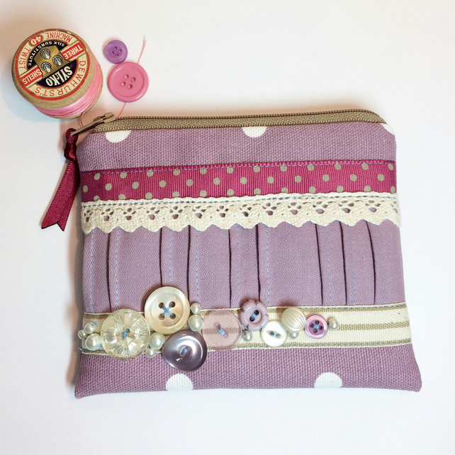 how to make a coin purse with a button