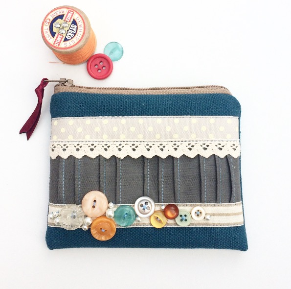 Vintage Button Coin Purse