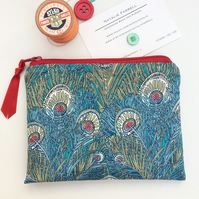 Liberty of London Peacock Feather Print Coin Purse
