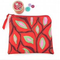 Red Print Coin Purse