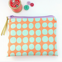 Polka Dot Print Coin Purse