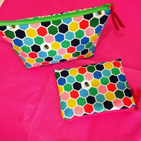 Bee Makeup Bag and Coin Purse
