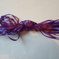 1 roll of 3mm Dark purple, satin ribbon minimum 10 metres, wedding,