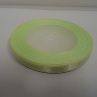 1 roll of 6mm Light Mint Green satin ribbon minimum 13 metres, wedding