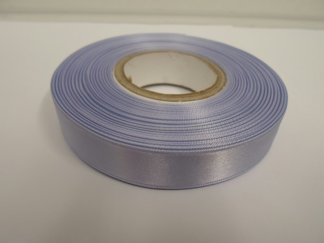 1 roll of 15mm x 25 metres, lavender, light purple satin ribbon, double sided