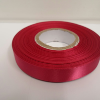 1 roll of 15mm x 25 metres, Magenta, dark pink satin ribbon, double sided