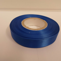 2 metres of 15mm Royal, Coblt blue satin ribbon, double sided