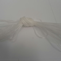 1 roll of 3mm White Sheer Organza ribbon, 50 metres, double sided