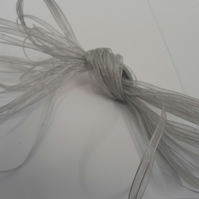 1 roll of 3mm Silver Sheer Organza ribbon, 50 metres, double sided