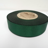 1 roll of 22mm Forest, Dark Green Grosgrain ribbon, 20 metres, double sided