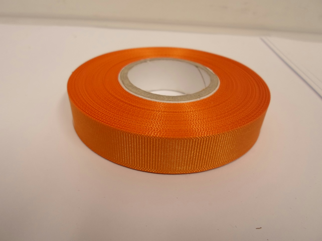 1 roll x 16mm Light Orange Grosgrain Ribbon, 20 metres, ribbed double