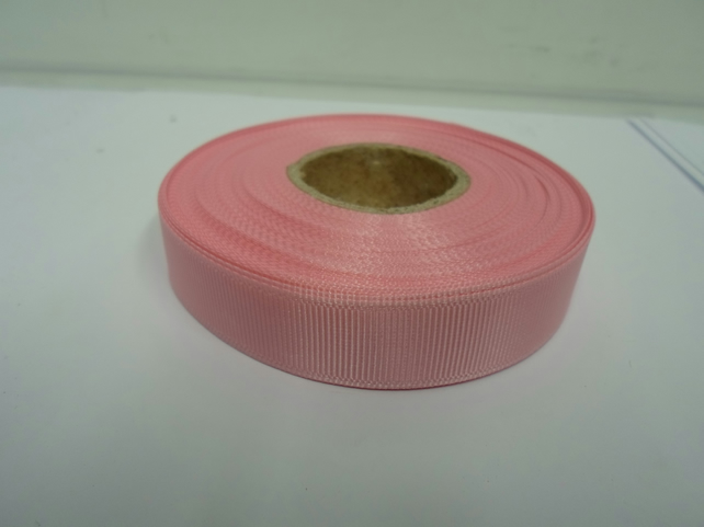1 roll x 16mm Light Baby Pink Grosgrain Ribbon, 20 metres, ribbed double