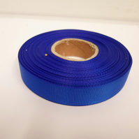 1 roll x 16mm Royal, Cobalt, Dark Blue Grosgrain Ribbon, 20 metres, ribbed
