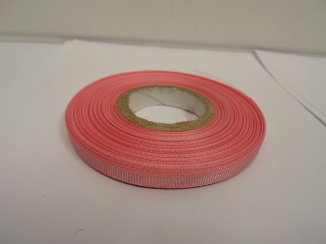 1 roll x 6mm Light Baby Pink Grosgrain Ribbon, 20 metres, ribbed