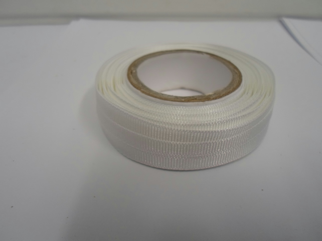 1 roll x 6mm White Grosgrain Ribbon, 20 metres, ribbed