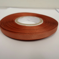 1 roll x 6mm Light Brown Grosgrain Ribbon, 20 metres, ribbed