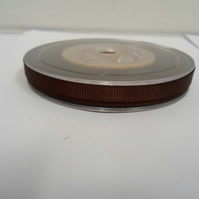 1 roll x 6mm Chestnut, Dark Brown Grosgrain Ribbon, 20 metres, ribbed