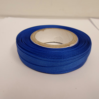 1 roll x 6mm Royal, Cobalt, Dark Blue Grosgrain Ribbon, 20 metres, ribbed