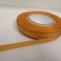 1 roll x 6mm Yellow Gold Grosgrain Ribbon, 20 metres, ribbed
