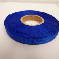 1 roll x 10mm Royal, Cobalt, Dark Blue Grosgrain Ribbon, 20 metres, ribbed