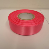 1 roll x 25mm Barbie, bright pink Satin Ribbon, 25 metres,