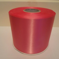 2 metres x 100mm Barbie Pink Satin Ribbon, single sided 100 mm