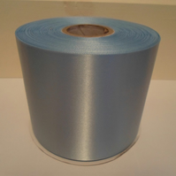 2 metres x 100mm Baby Light Blue, Satin Ribbon, single sided 100 mm