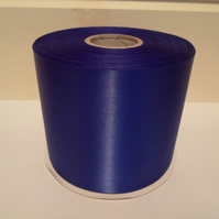 2 metres x 100mm Royal Cobalt Blue, Satin Ribbon, single sided 100 mm