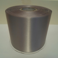 2 metres x 100mm Silver, Satin Ribbon, single sided 100 mm