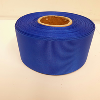 2 metres of 38mm Royal, Cobalt Blue Grosgrain Ribbon, ribbed, double sided