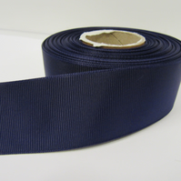 2 metres of 38mm Dark Purple Grosgrain Ribbon, ribbed, double sided