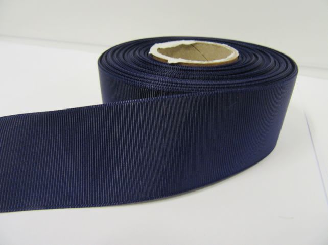 1 roll x 38mm Dark Purple Grosgrain Ribbon, 20 metres, ribbed, double side