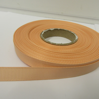 1 roll x 10mm Peach Grosgrain Ribbon, 20 metres, ribbed double sided