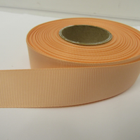 1 roll of 22mm Peach Grosgrain ribbon, 20 metres, double sided