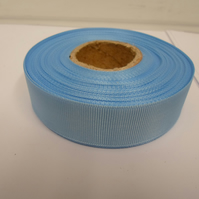 2 metres of 22mm Light Baby Blue Grosgrain Ribbon, ribbed double sided