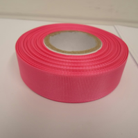 2 metres of 22mm Barbie, Bright Pink Grosgrain Ribbon, ribbed double sided