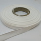 1 roll of 10mm White Satin Ribbon 25 metres Double Sided